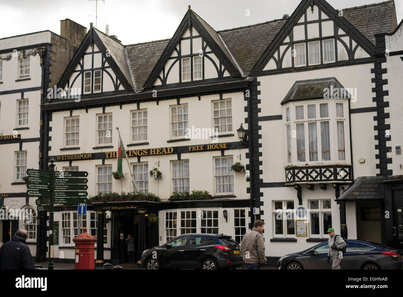 Kings Head Hotel in Monmouth, Wales - Stock Image