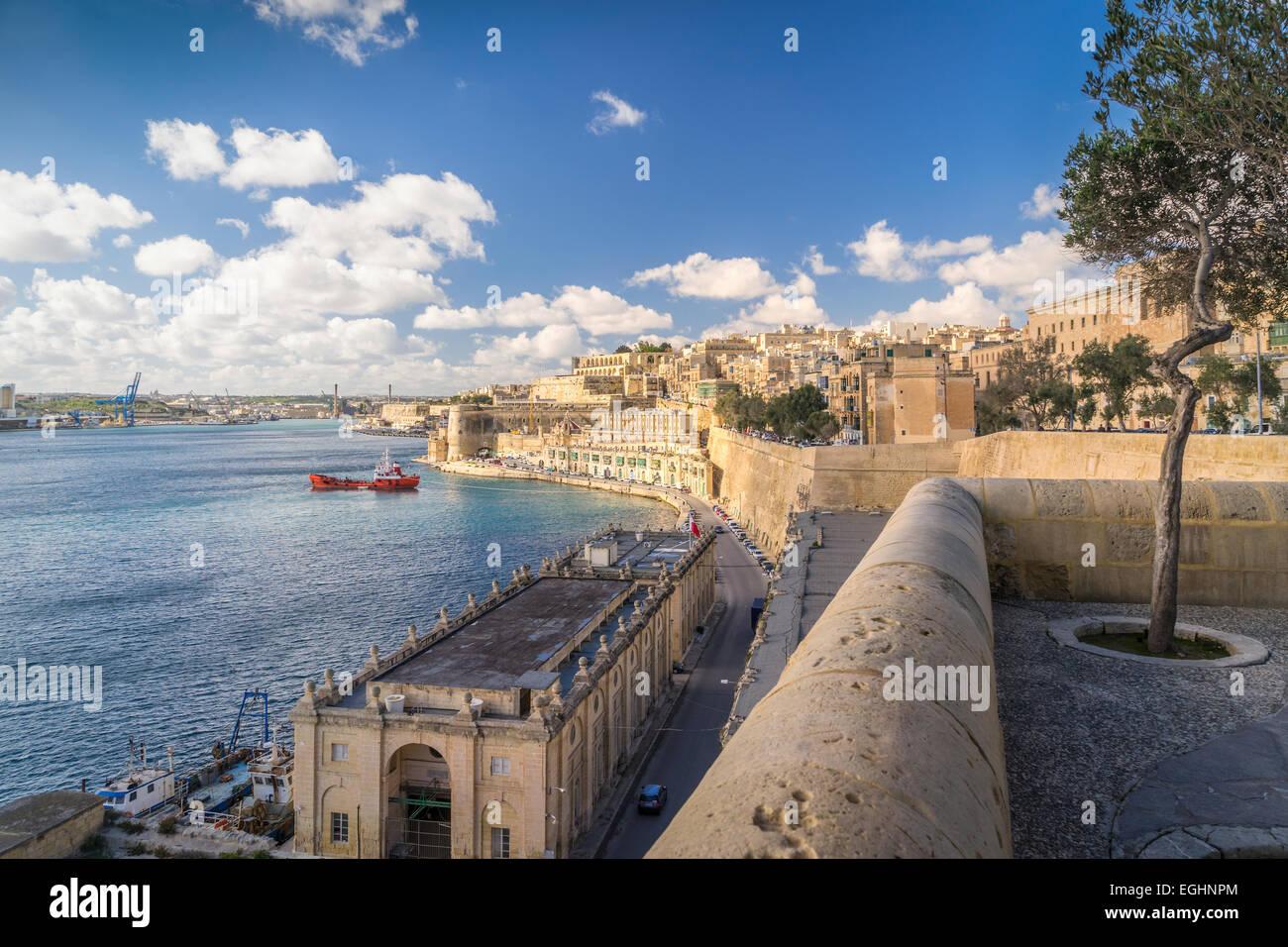 Looking across Valletta - Stock Image