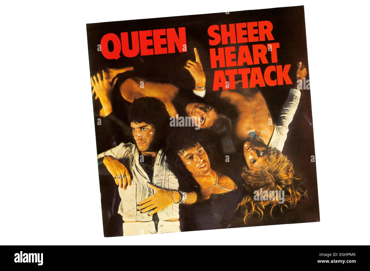 Sheer Heart Attack was the third album by British rock band Queen, released in November 1974. - Stock Image