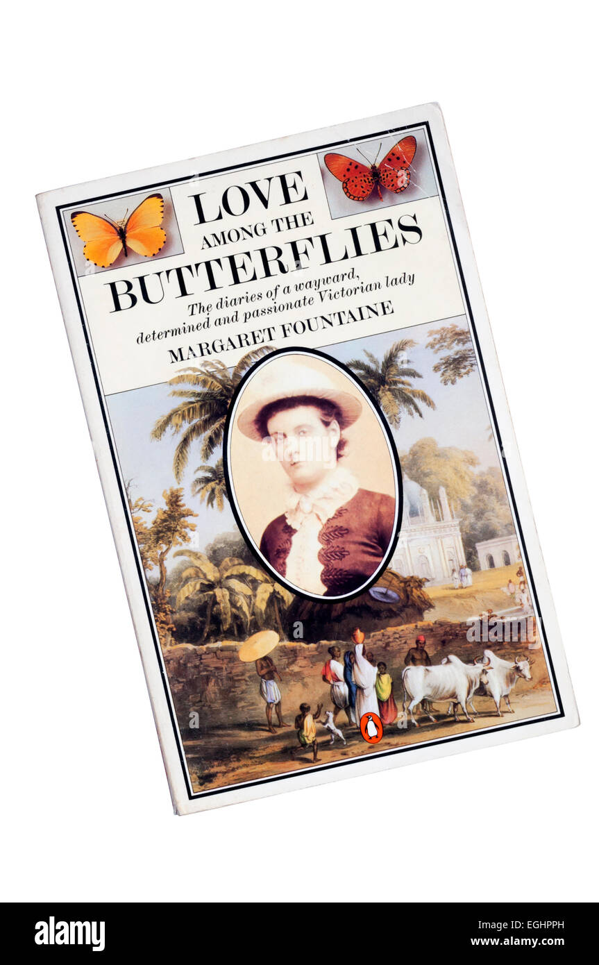 A copy of Love Among the Butterflies, the diaries of Margaret Fountaine, edited by W F Cater and published by Penguin - Stock Image