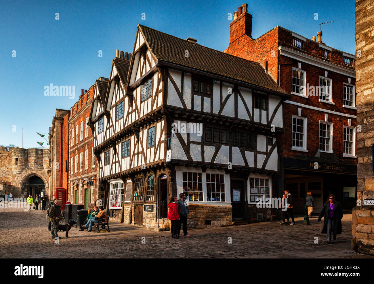 Tourist Information Office, Castle Hill, Lincoln, Lincolnshire, England, UK. - Stock Image