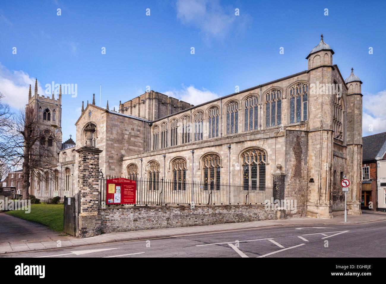 King's Lynn Minster or St Margaret's Church, King's Lynn, Norfolk. - Stock Image