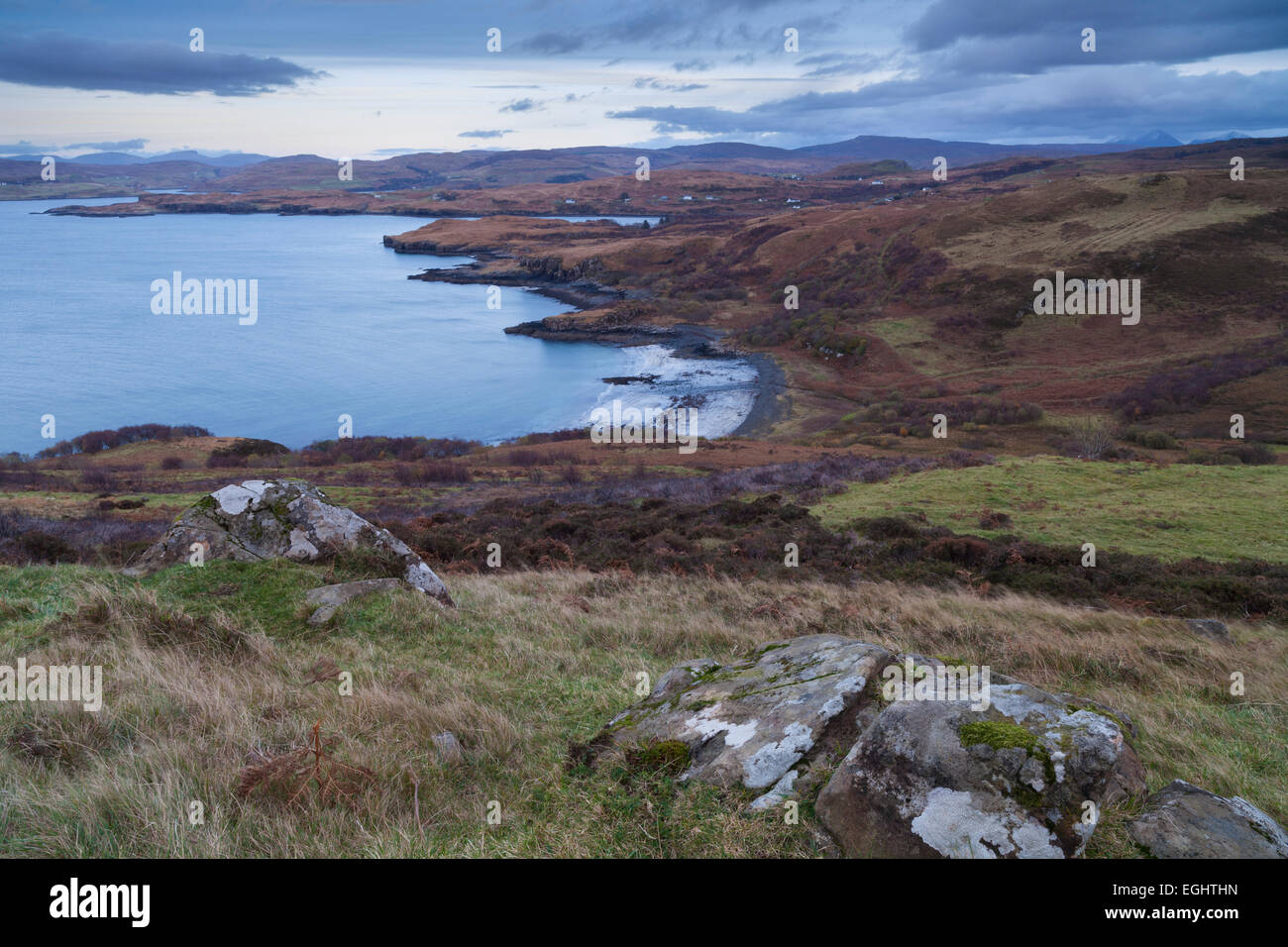 A view of Fiskavaig bay and Ardtreck point, Isle of Skye, Scotland Stock Photo