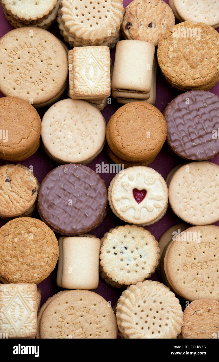 Assorted Biscuits - Stock Image