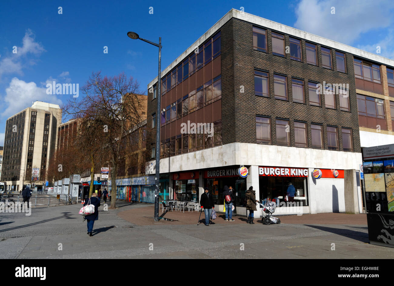 Marland House, Site of the new bus station, Cardiff, South Wales, UK. - Stock Image