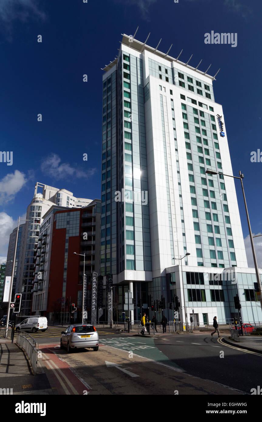 Radisson Blu hotel, Cardiff city centre, Cardiff, Wales. Stock Photo