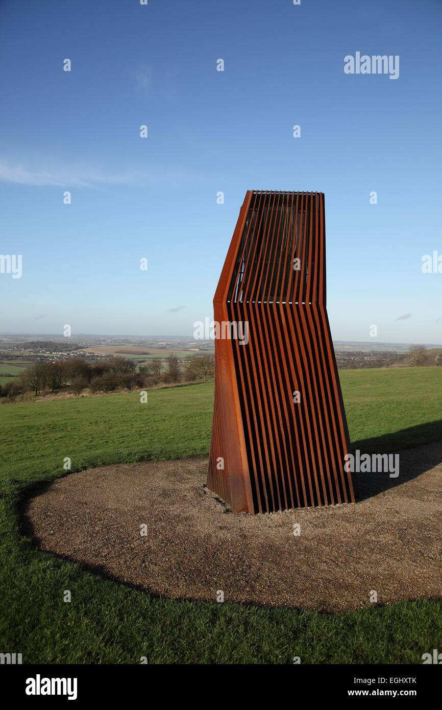 A wind catcher on Dunstable Downs, Bedfordshire Stock Photo