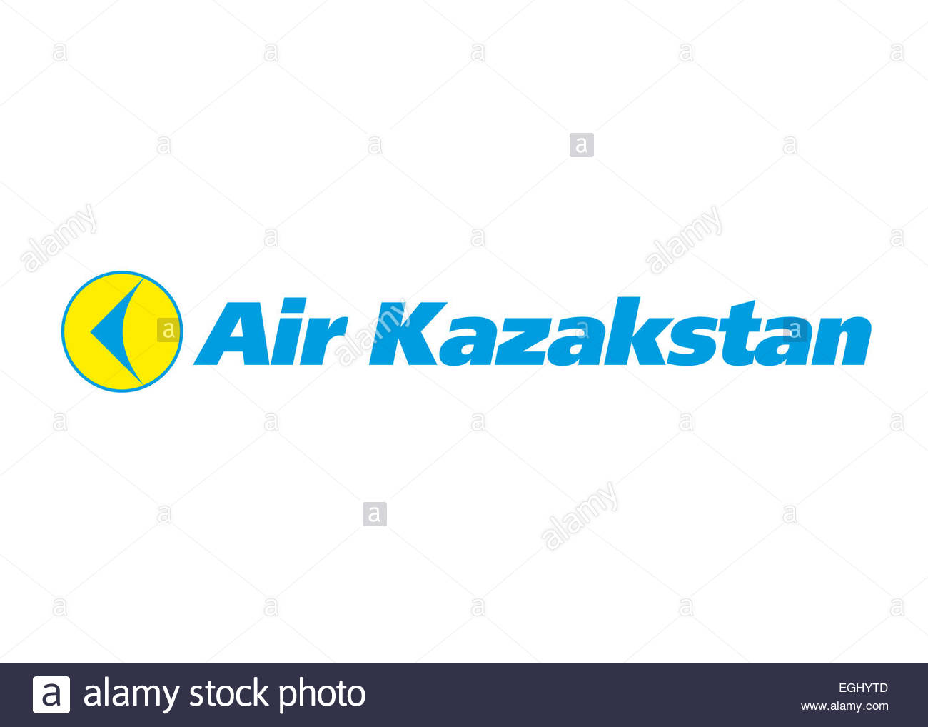 Air Kazakstan logo icon flag emblem symbol - Stock Image