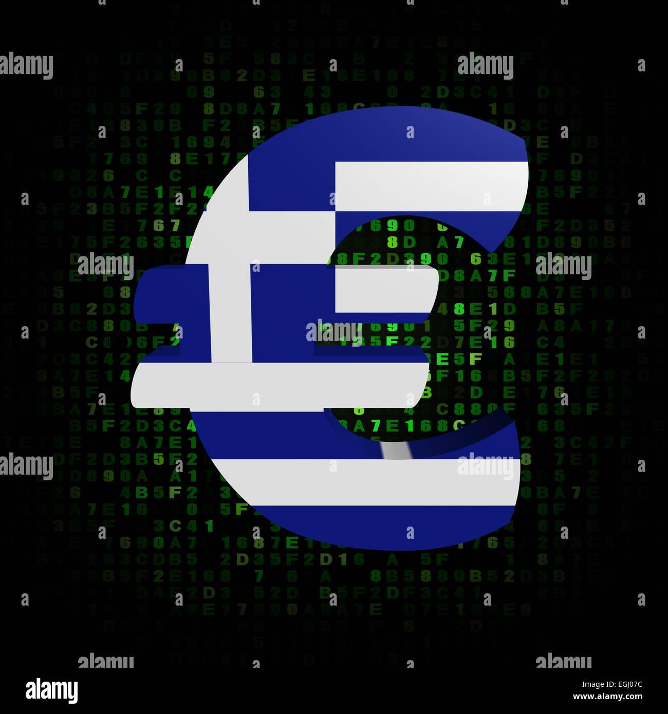 Euro Symbol Greek Flag On Stock Photos Euro Symbol Greek Flag On