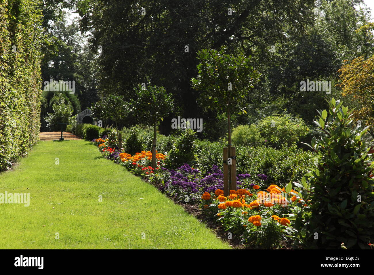 Castle Bromwich Hall Gardens, an English Baroque garden currently under restoratiion by the Castle Bromwich Hall - Stock Image