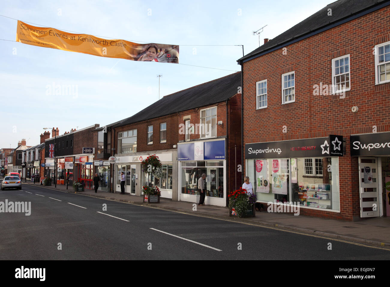 Shops in Kenilworth, Warwickshire UK - Stock Image