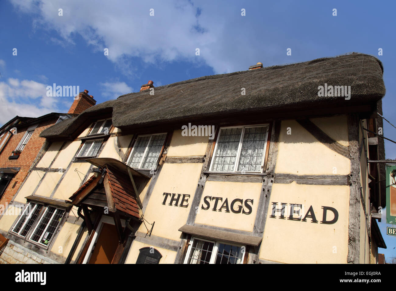 The Stags Head, a rural village pub in Wellesbourne, Warwickshire UK - Stock Image
