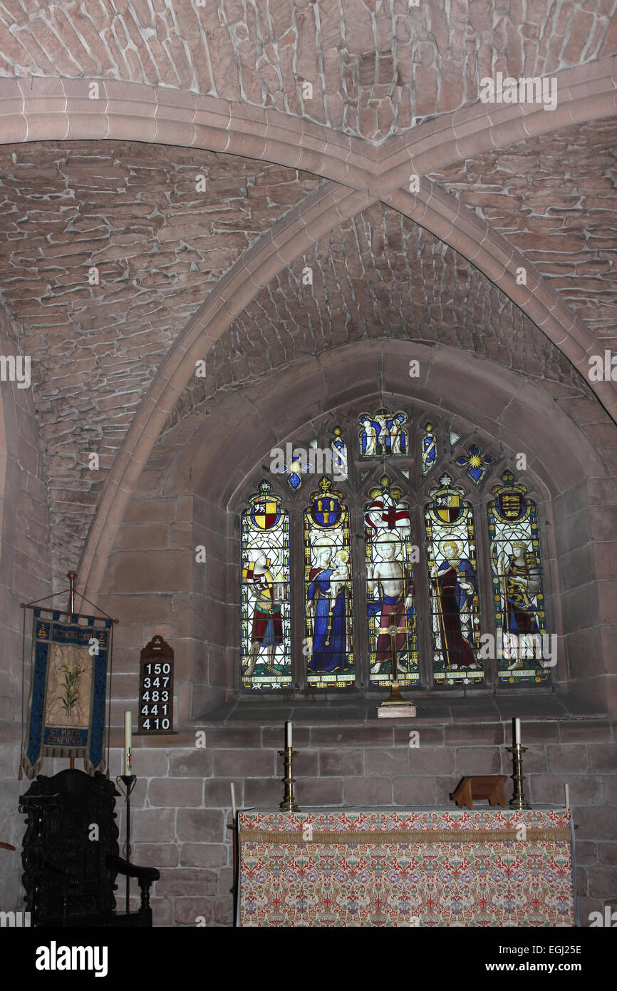 Interior Of The Chapter House at Birkenhead Priory, Merseyside, UK - Stock Image