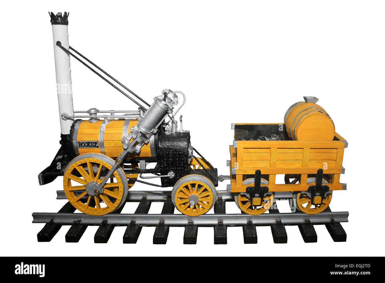 Scale Model Of George Stephenson's 'Rocket' - Stock Image