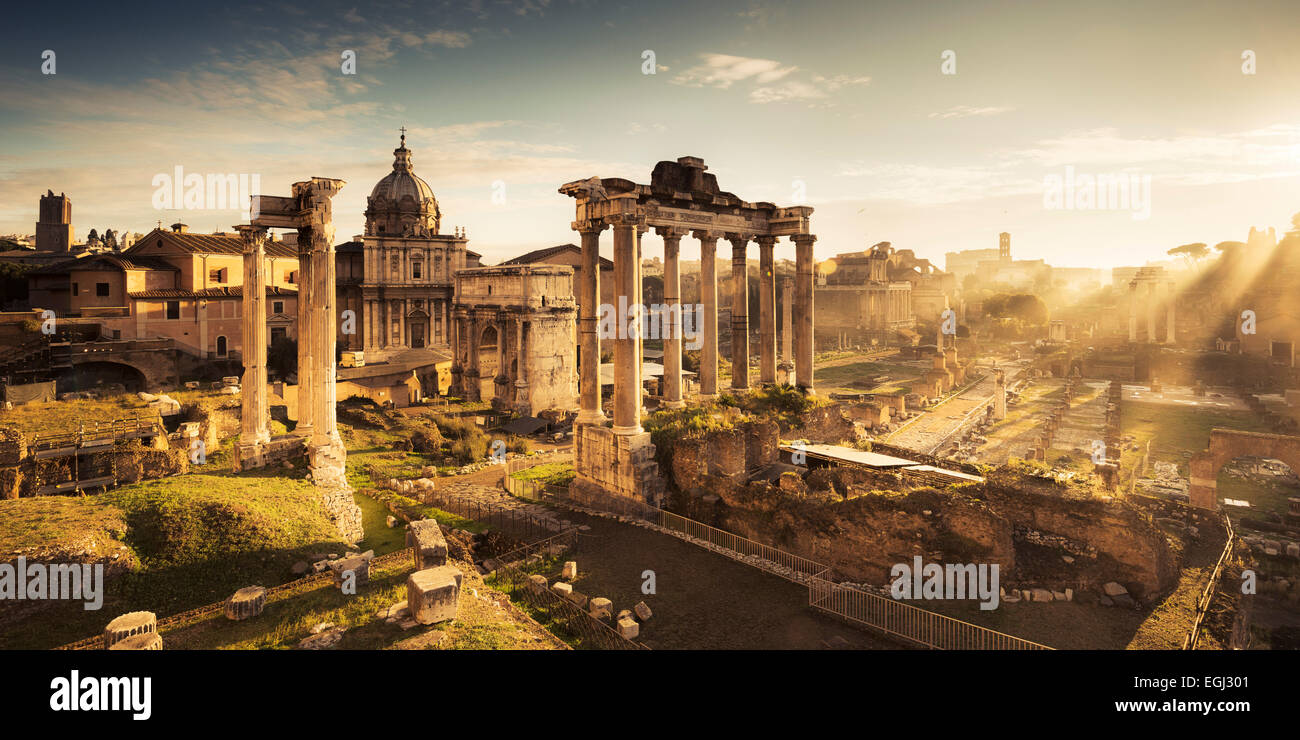 Italy, Rome, Roman Forum, ancient times, ruin, - Stock Image