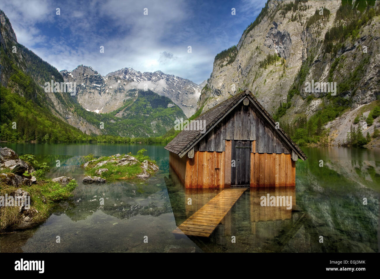 obersee h tte see spiegelung alpen nationalpark berchtesgaden stock photo 79074035 alamy. Black Bedroom Furniture Sets. Home Design Ideas