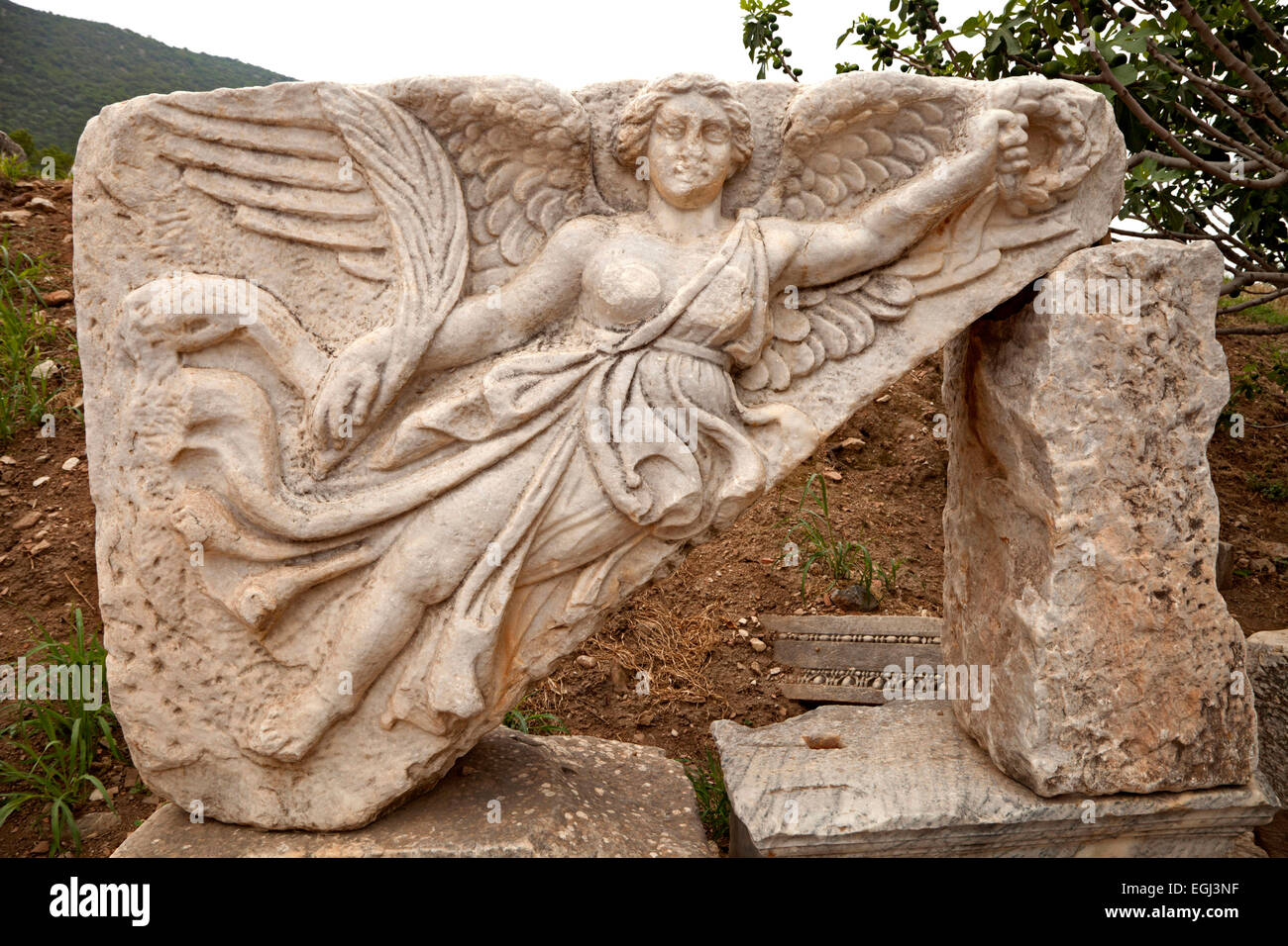 Turkey, Ephesos, ancient times, ruin - Stock Image