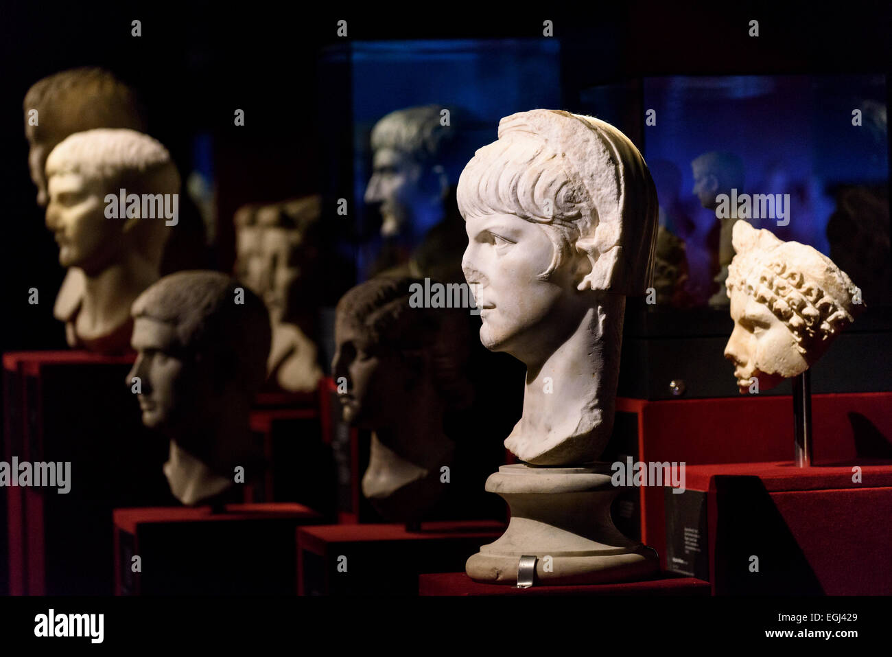Rome. Italy. Portrait bust of Roman Emperor Nero (Between 54 -59 AD) Palazzo Massimo alle Terme, Museo Nazionale - Stock Image