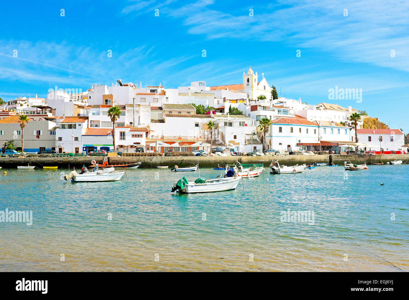 Ferragudo in the Algarve Portugal - Stock Image