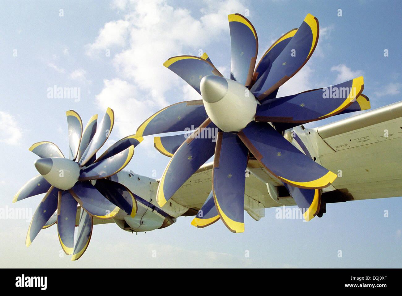 Propfan An-70 aircraft - Stock Image