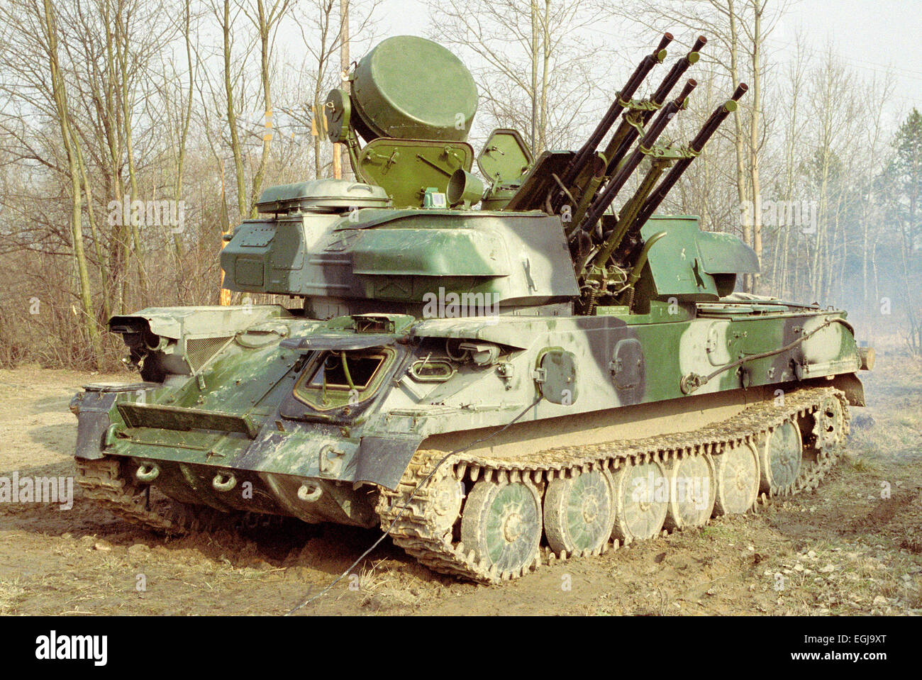 "Self Propelled Cart >> The ZSU-23-4 ""Shilka"" is a lightly armored, self-propelled ..."