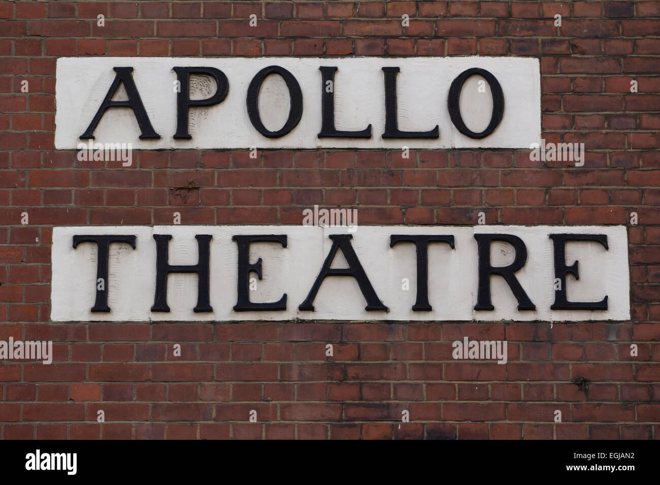 Apollo Theatre, Shaftesbury Avenue, Soho, London, England, UK - Stock Image