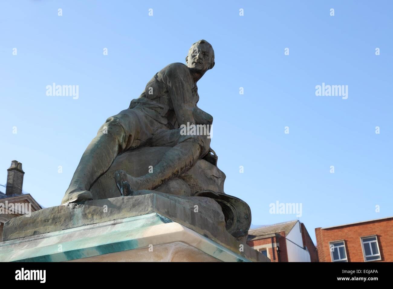 Boer war memorial in Bury St Edmunds, Suffolk, UK - Stock Image