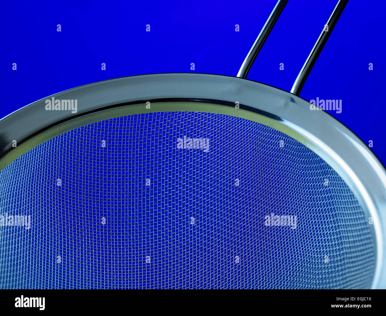 kitchen equipment: sieve - Stock Image