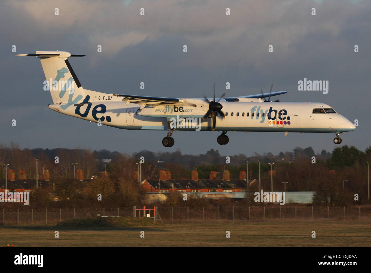flybe DHC DASH 400 Stock Photo