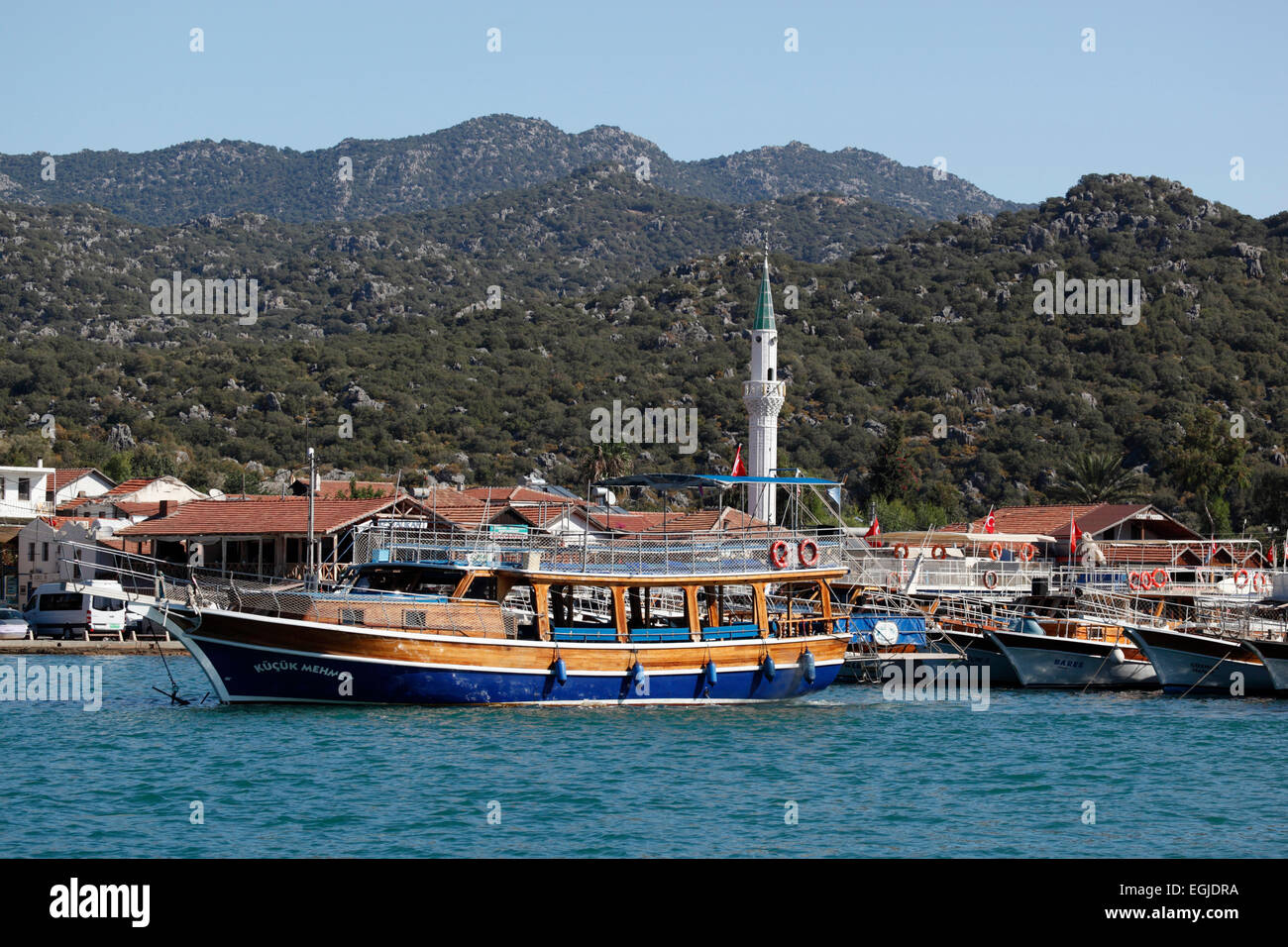 Ucagiz, near Kas, Lycia, Antalya Province, Mediterranean Coast, Southwest Turkey, Turkey, Asia - Stock Image