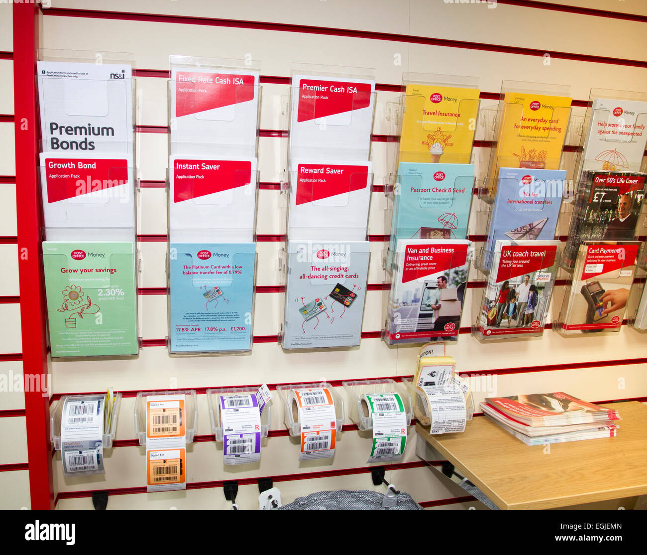 Post Office Counters leaflets & parcel & letter tracking stickers