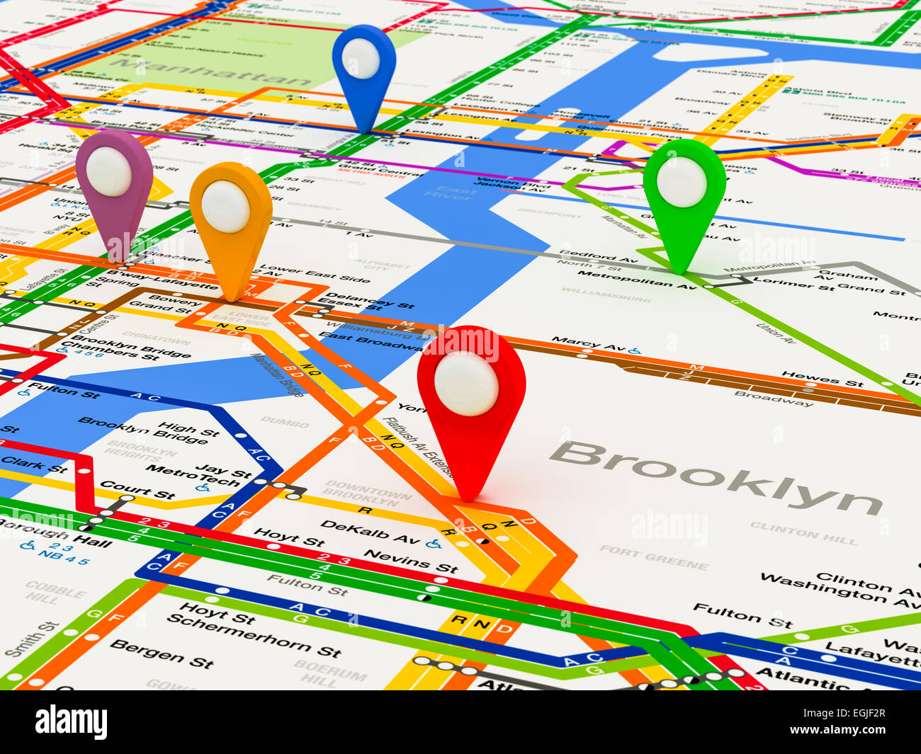 New York City Navigating Subway Map.New York Subway Map Stock Photos New York Subway Map Stock Images