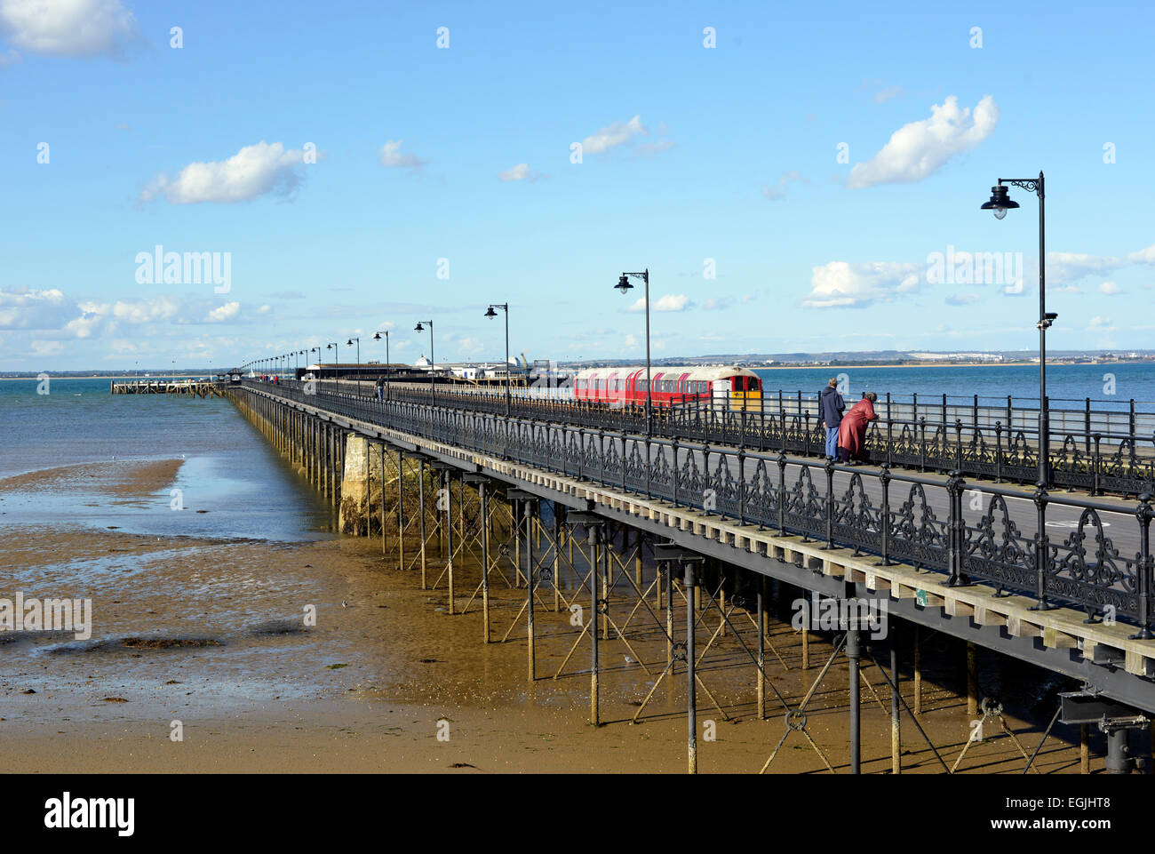 ryde pier isle of wight - Stock Image