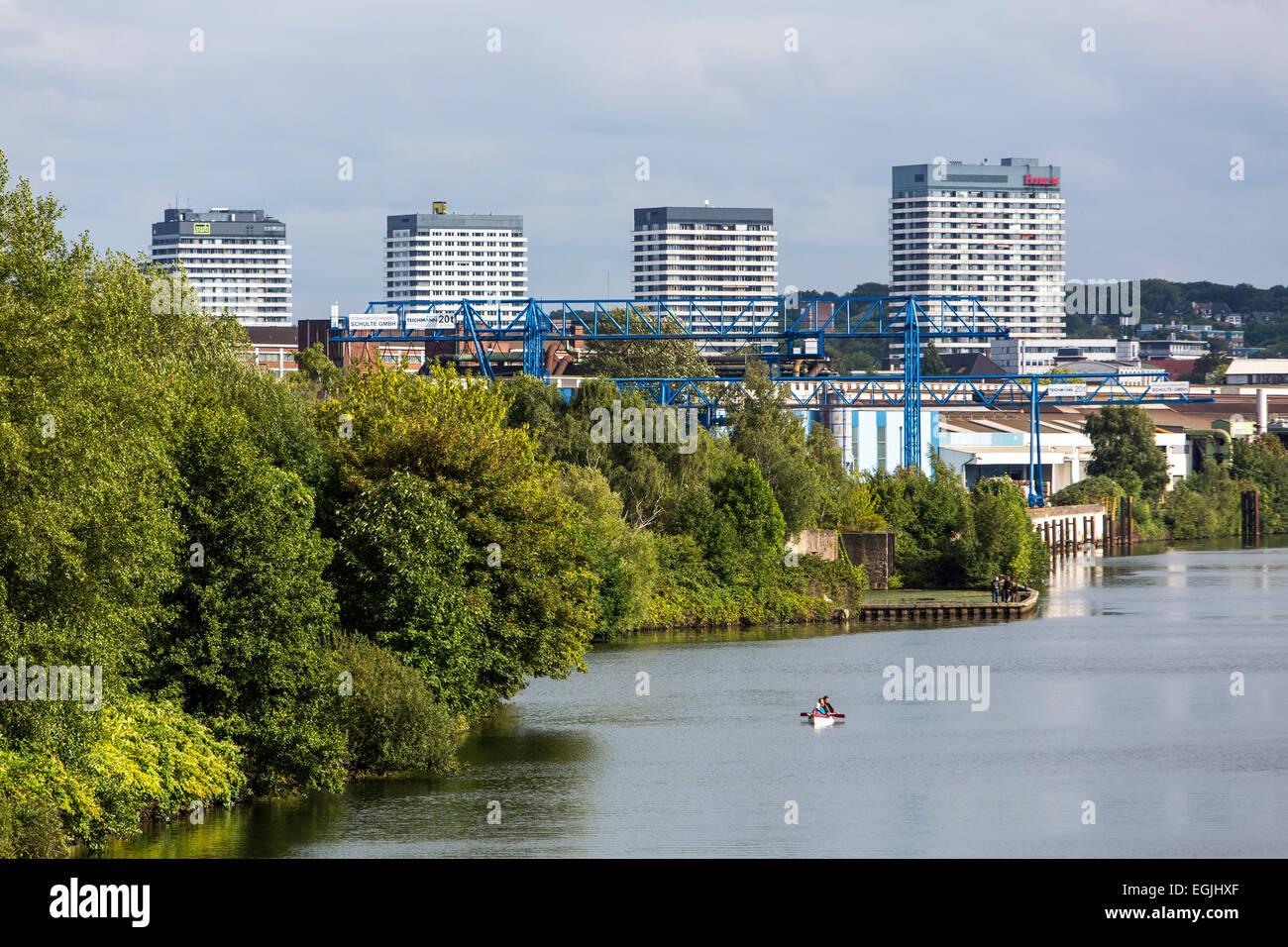 Skyline, Muelheim, river Ruhr - Stock Image