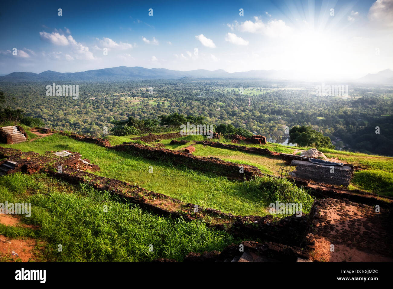 Sigiriya Lion Rock Fortress in Sri Lanka Stock Photo