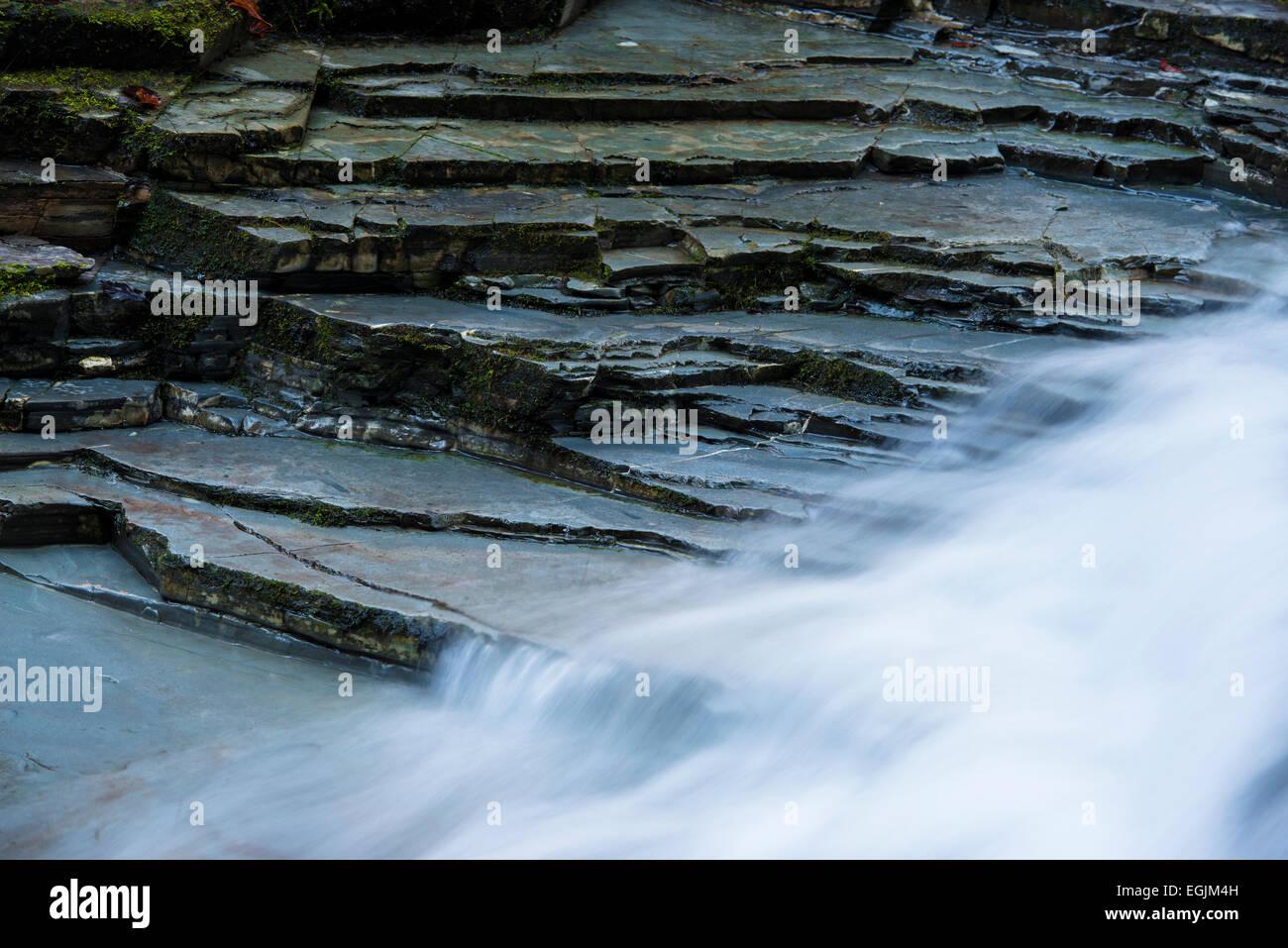 Detail of Taugl stream, Tauglbach or Taugl River, Taugl River Gorge, Tennengau region, Salzburg State, Austria Stock Photo