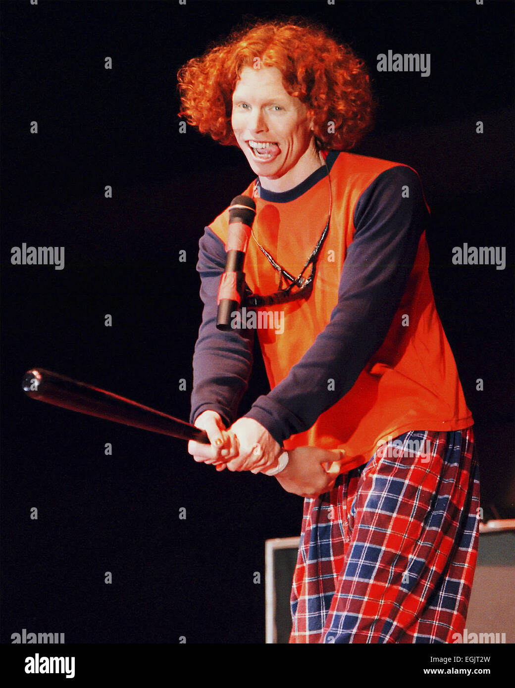 Stand-up comedian Carrot Top, 30, whose real name is Scott ...