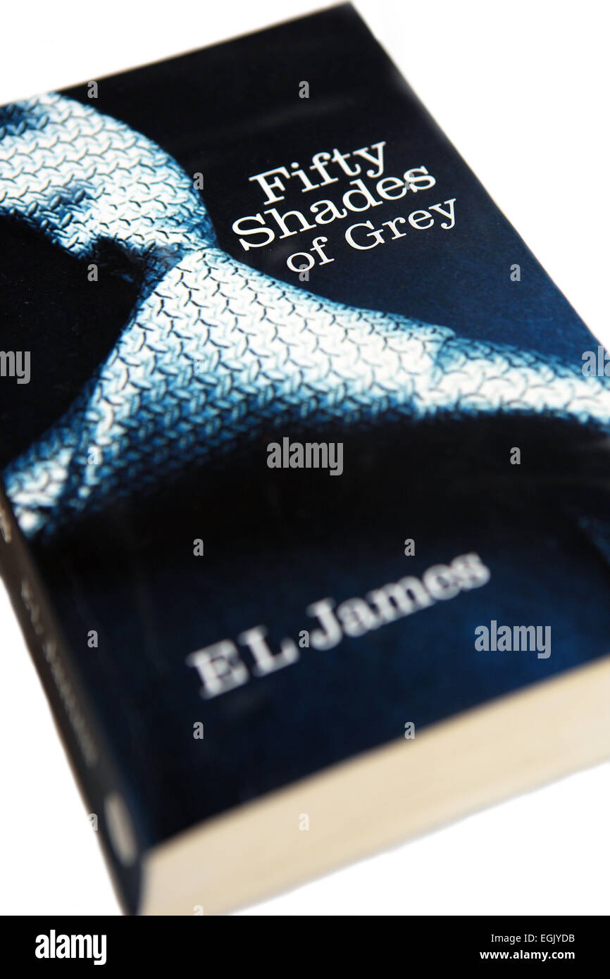 Fifty Shades of Grey book by E L James - Stock Image