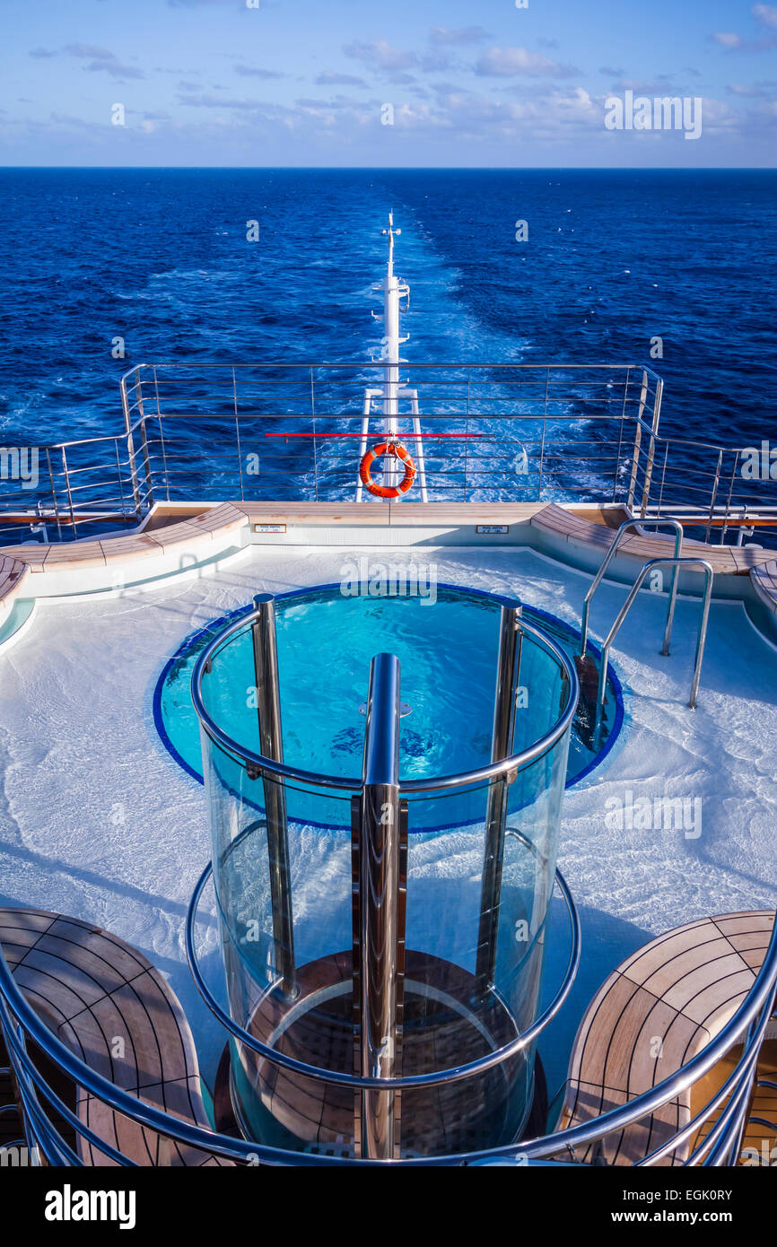 A small swimming pool on the Regal Princess cruise ship. Stock Photo