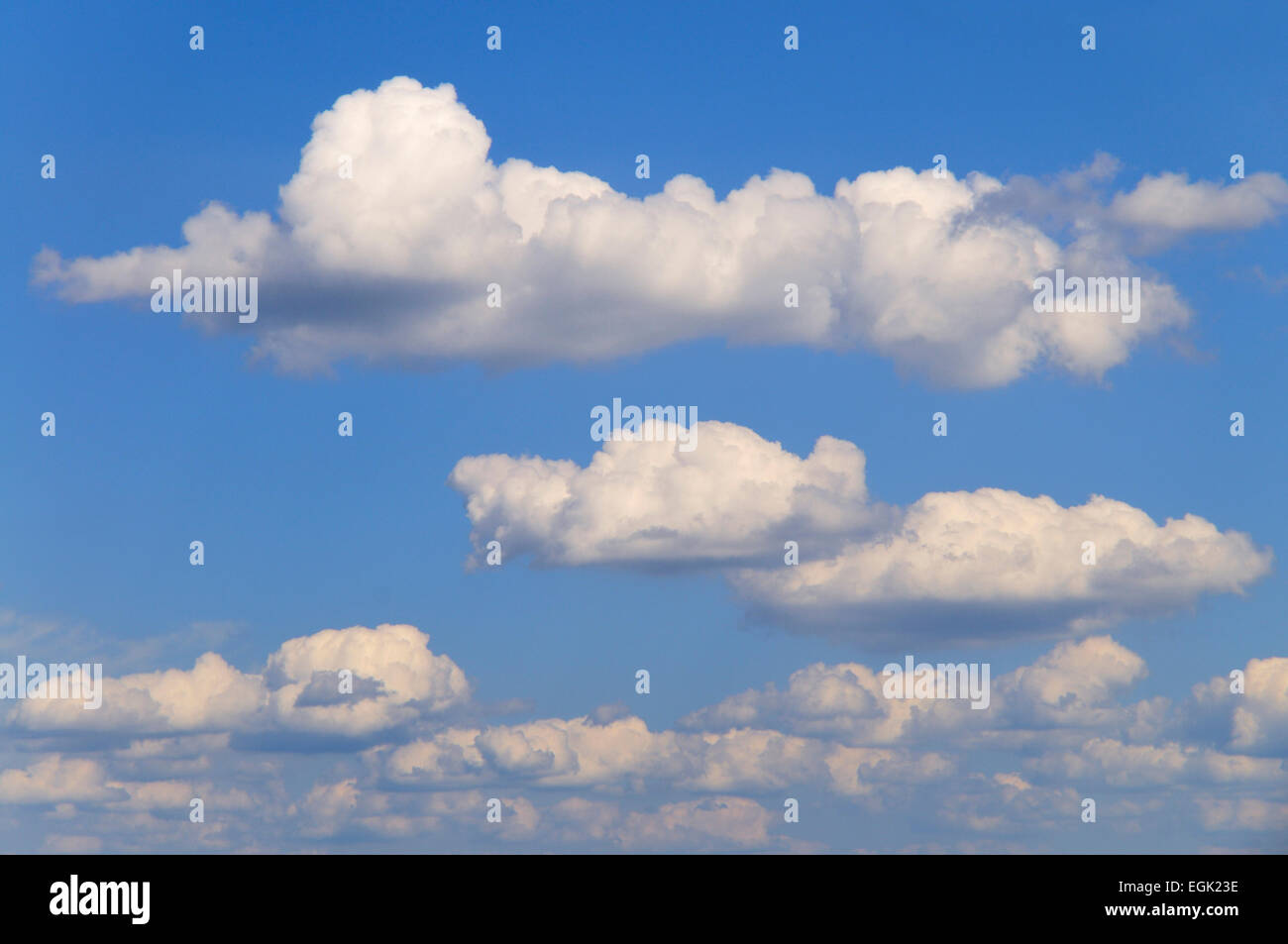 Cumulus clouds or cumulonimbus clouds, North Rhine-Westphalia, Germany - Stock Image
