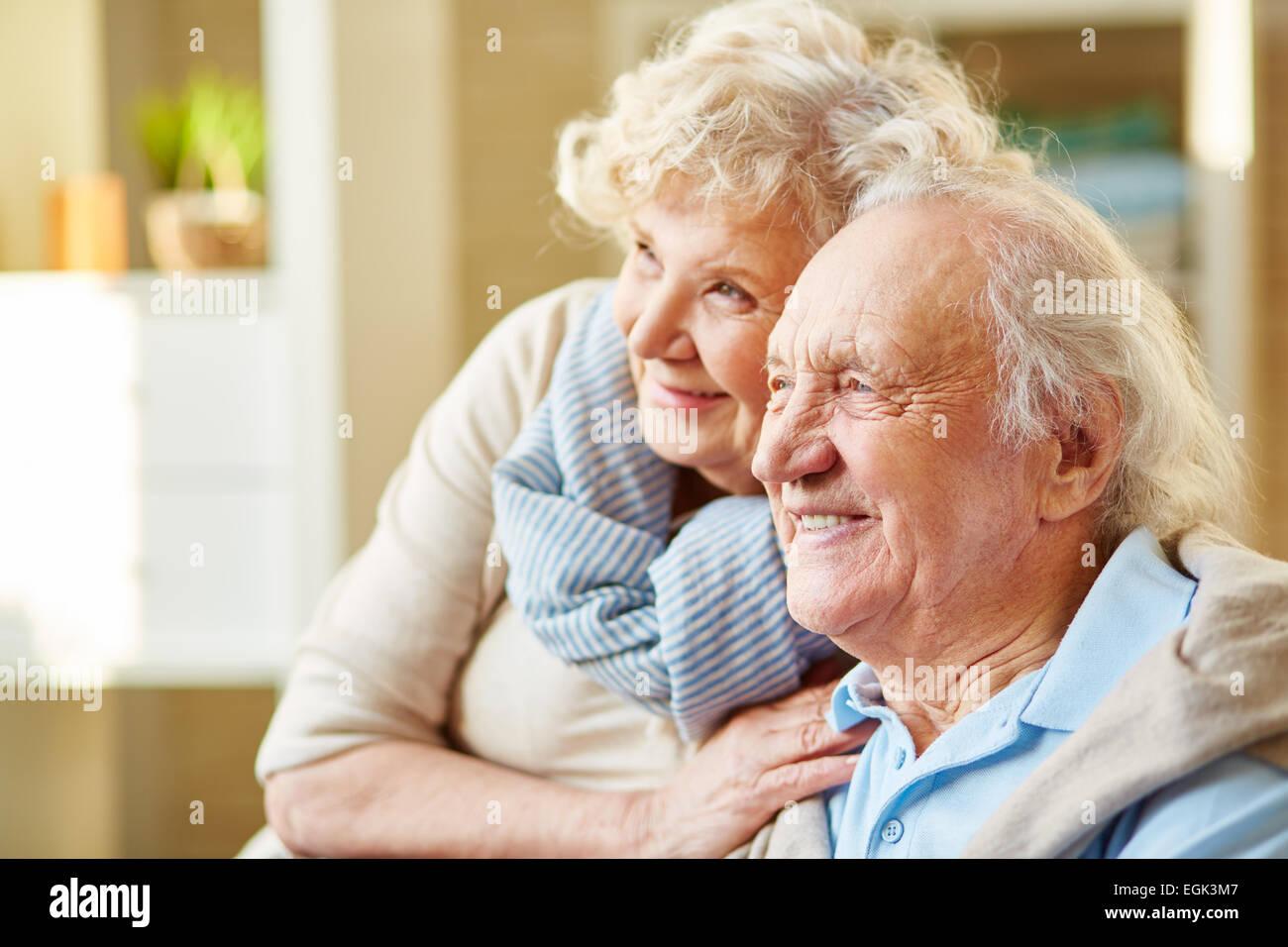 Happy and devoted senior couple - Stock Image