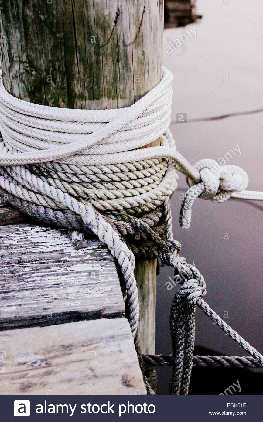 Tied knot outdoors - Stock Image
