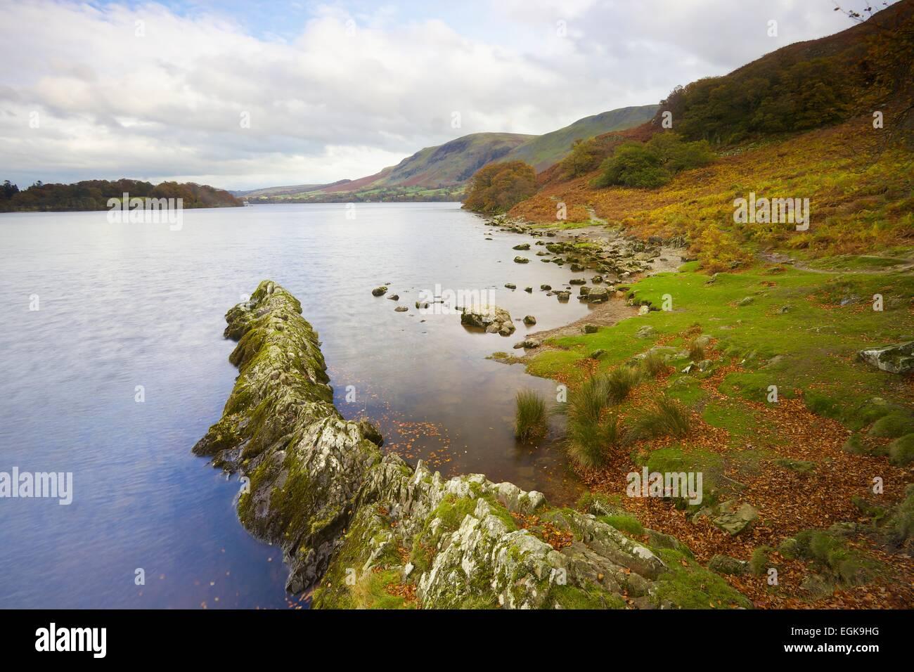 Rock spur. Kailpot Crag, Ullswater, Lake District National Park, Cumbria England UK - Stock Image