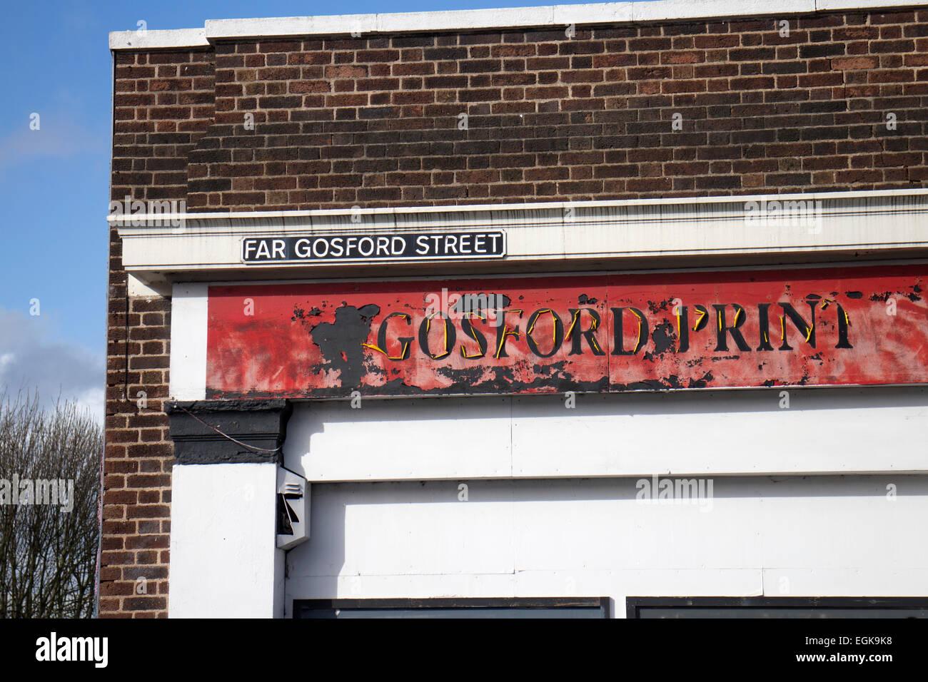 Far Gosford Street Stock Photos Far Gosford Street Stock