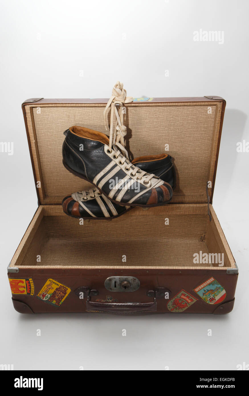 GER, football boots - Stock Image
