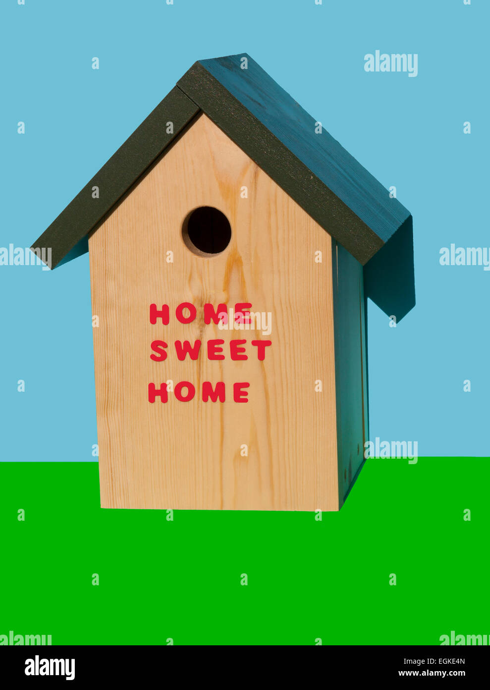 Nesting box - home sweet home - Stock Image