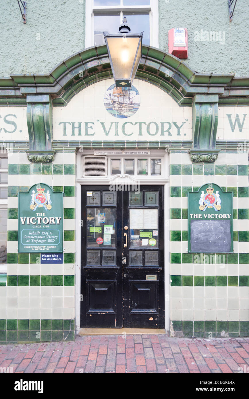 The Victory Pub in Brighton UK showing the door sign and architectural detail. - & Victory The Door Stock Photos u0026 Victory The Door Stock Images - Alamy
