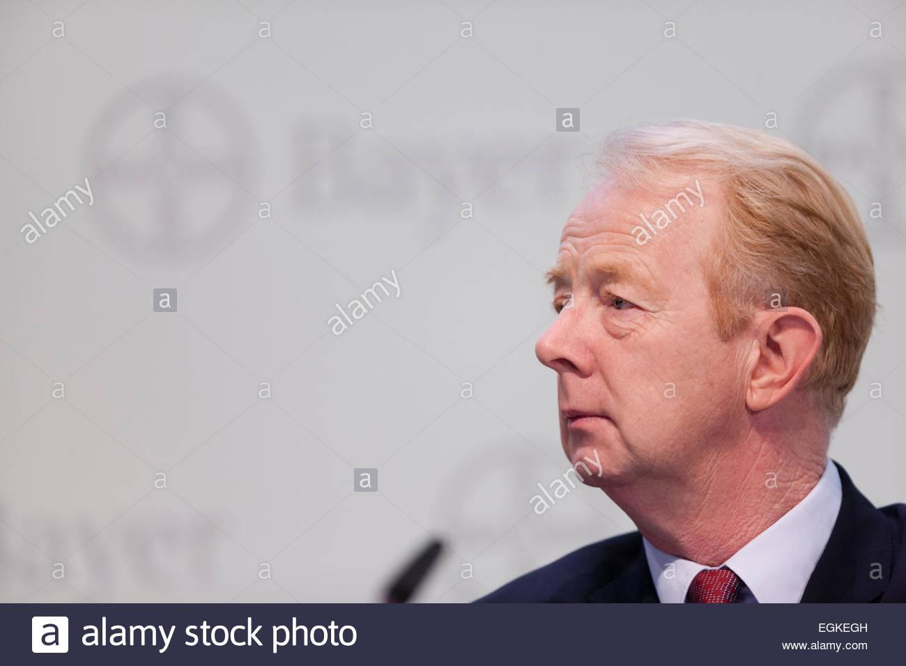 Marijn Emmanuel Johannes Dekkers, CEO of Bayer AG, a german chemical and pharmaceutical company Stock Photo