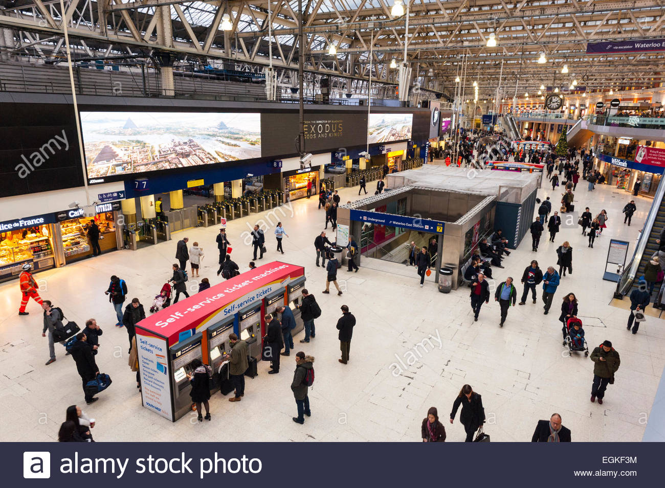 The new concourse at Waterloo station London - Stock Image