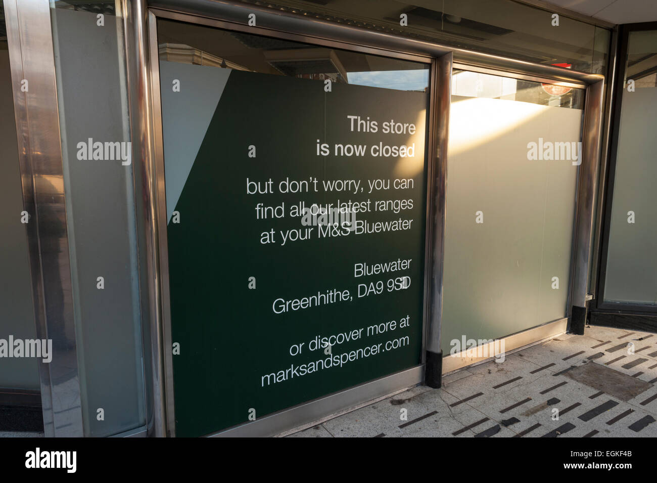 Closed down Marks and spencer store in New Road Gravesend. - Stock Image